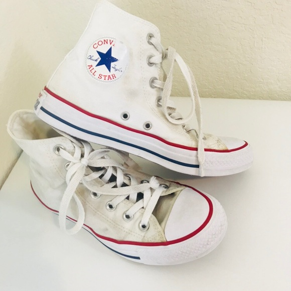 01af791c66f2 Converse Shoes - Converse Chuck Taylor High Top Classic White Red